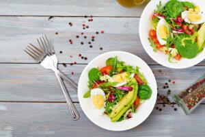 Buntes Eier Gemüse