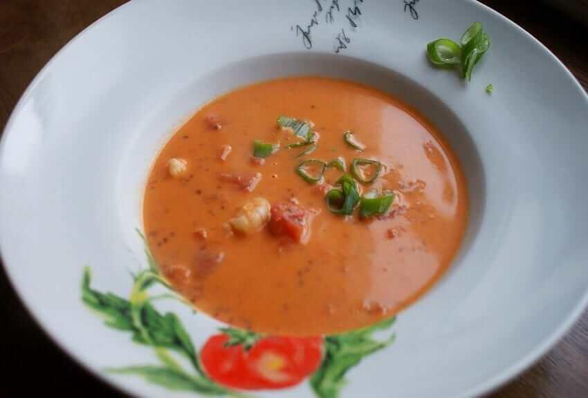 Tomaten Kokos Chia Suppe